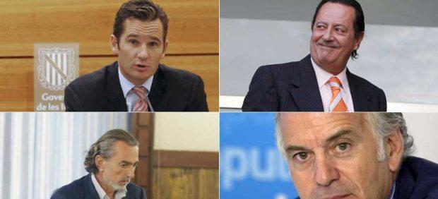 Bárcenas, Urdangarin, Correa y Muñoz