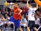 Sarmiento en el Espa�a - Alemania de balonmano