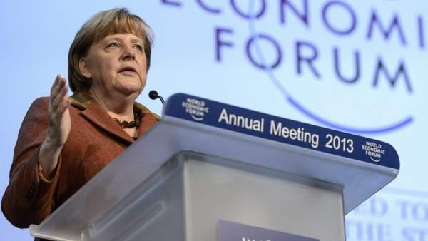 Merkel en Davos