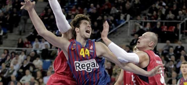 Tomic y Lampe en el Caja Laboral - Barça
