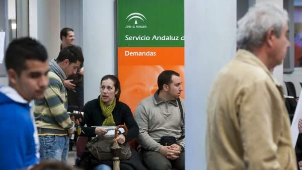 Desempleados andaluces