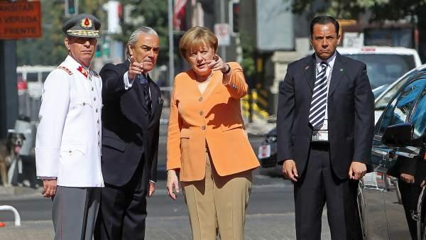 Merkel, en Chile