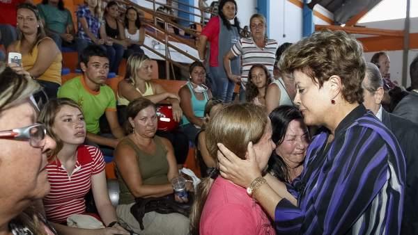 Rousseff, con los familiares de las víctimas