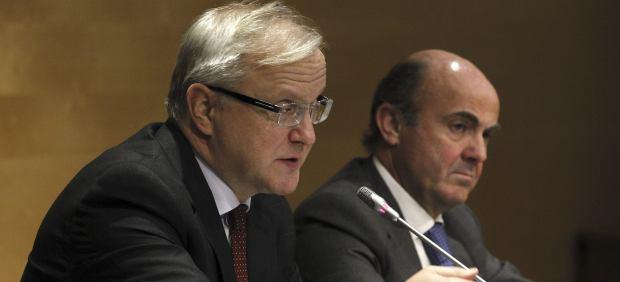 Olli Rehn y Luis de Guindos