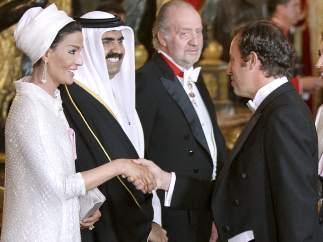Rosell, Al Thani y el rey Juan Carlos I