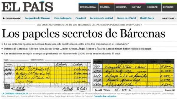 Portada de' El País'