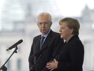 Reunión entre Merkel y Monti