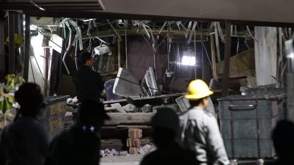 Explosión en la sede de Pemex