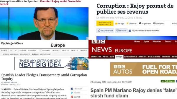La prensa internacional y el discurso de Rajoy