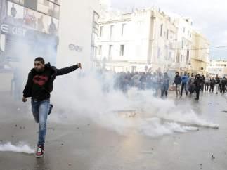 Protestas en T�nez