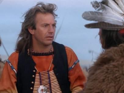 Kevin Costner, en 'Bailando con lobos'.