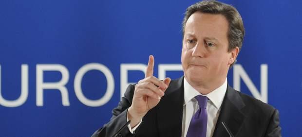 David Cameron, en la reunión de la UE.