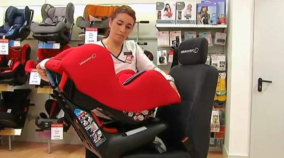 Siete modelos de sillas infantiles de coche suspenden en for Silla de seguridad coche
