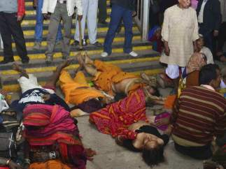 Estampida humana en la India