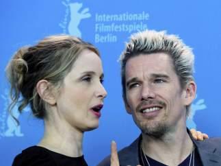 Julie Delpy y Ethan Hawke, en la presentación de 'Before midnight'.