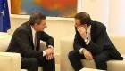 Rajoy recibe a Draghi en Moncloa