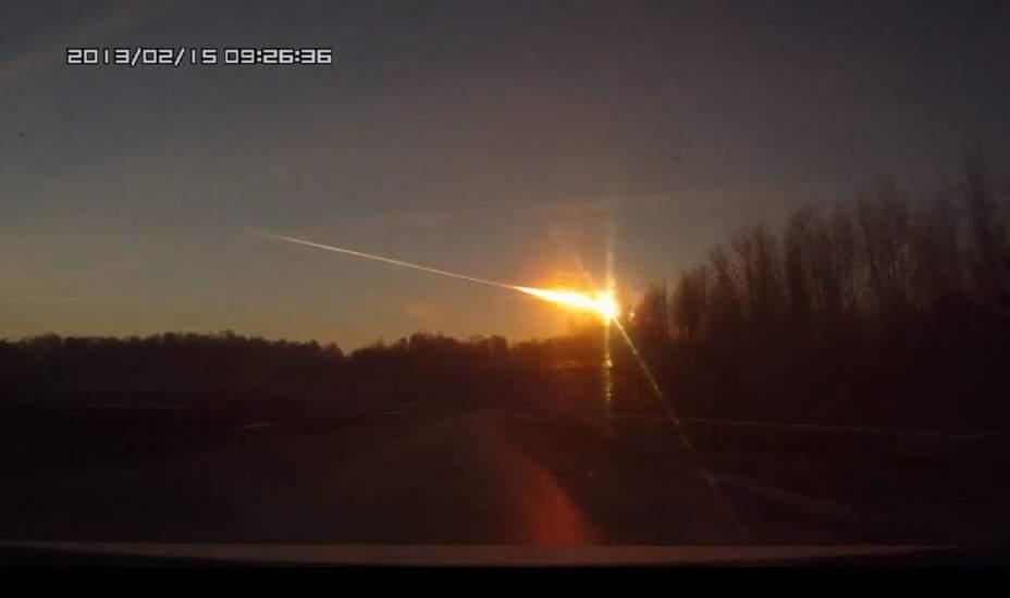 Fotos de meteorito que cayo en rusia