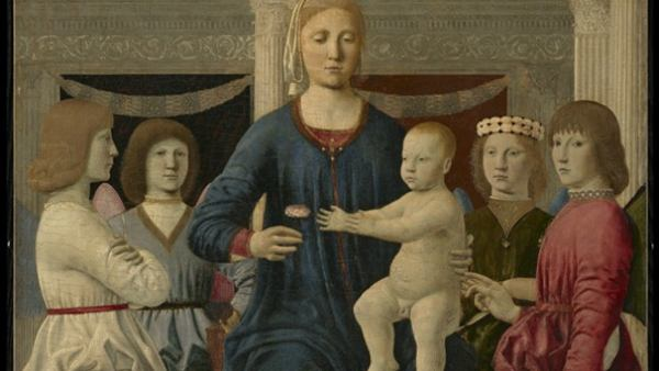 'Virgin and Child Enthroned with Four Angels'