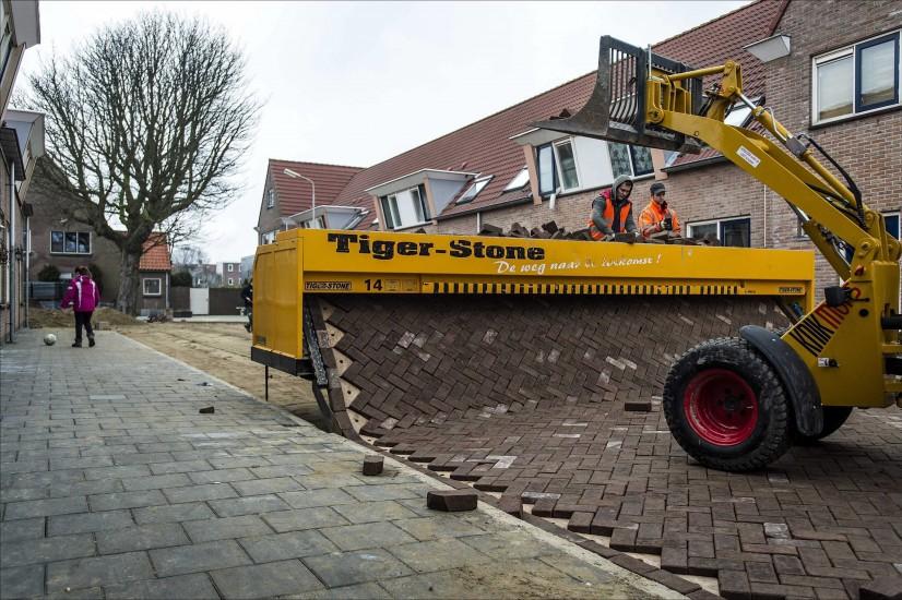Así se colocan las calles en Holanda