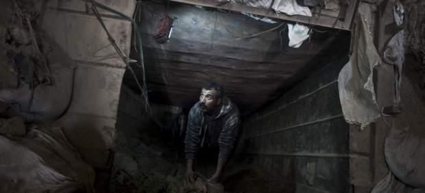 Contrabando entre los túneles de la Franja de Gaza y Egipto