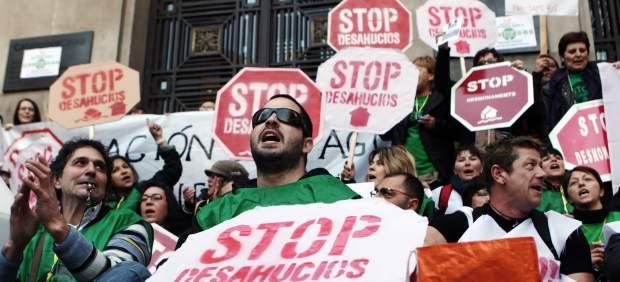 Manifestación contra los desahucios.