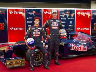 Jean-Éric Vergne y Daniel Ricciardo
