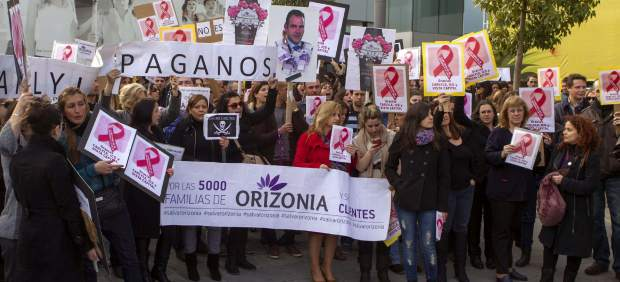 Protesta de trabajadores de Orizonia