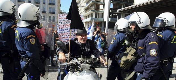 Huelga en Grecia