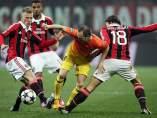 Iniesta ante el Milan