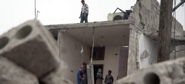 Destrucción y muerte en Siria