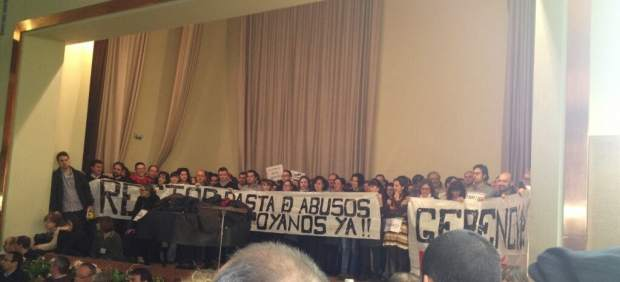 Protesta en la Universidad Politécnica de Madrid