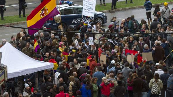 Protesta contra Urdangarin