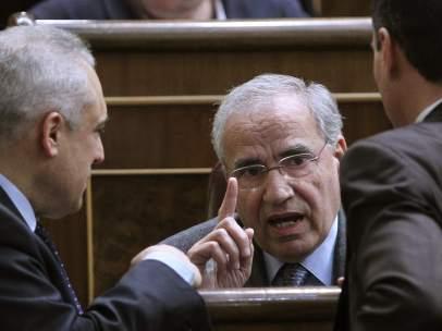 Alfonso Guerra, en el Congreso de los Diputados.