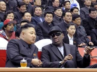 Dennis Rodman se encuentra con Kim Jonh-Un