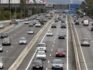 Carretera con barreras