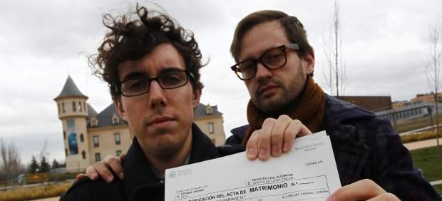 José y Antonio, matrimonio homosexual