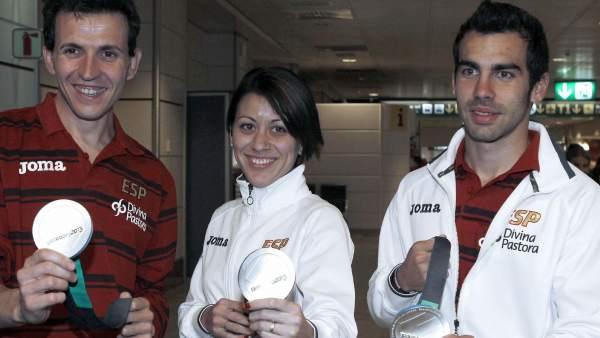 Juan Carlos Higuero, Isabel Macías y Kevin López