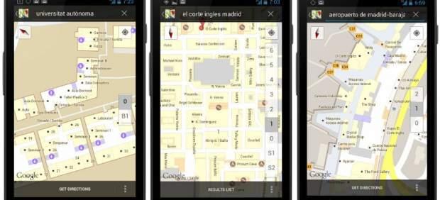 La versión móvil de Google Maps muestra los planos del interior de 67 edificios españoles