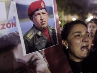 Chavistas lloran a su líder