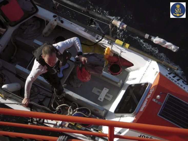 Intentaba cruzar el Atlántico en un bote a remos