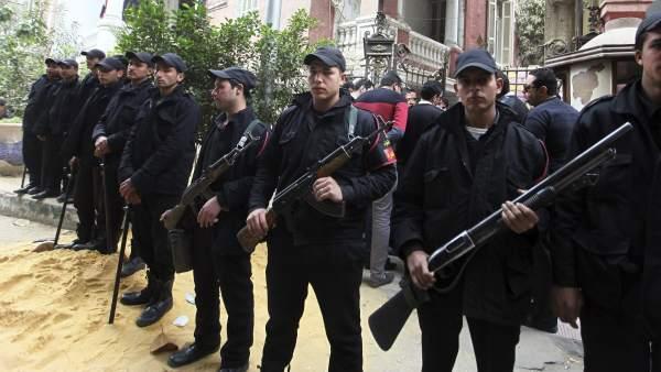 Protesta policial en Egipto