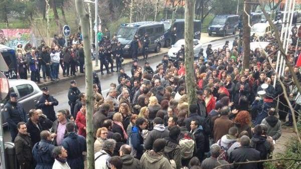 Antidisturbios en la Politécnica