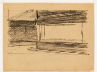 'Study for Nighthawks' 1941 or 1942