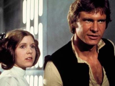 Mark Hamill, Carrie Fisher y Harrison Ford, en 'La guerra de las galaxias'.