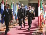 El príncipe Felipe llega a la academia militar de Caracas