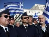 Protesta militar en Grecia