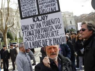 Pancarta contra Rajoy