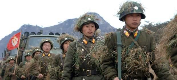 Maniobras militares en Corea del Norte