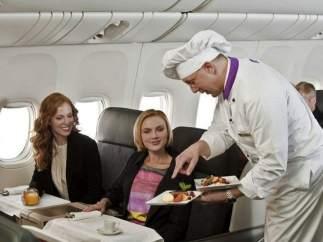 Un chef en el avión