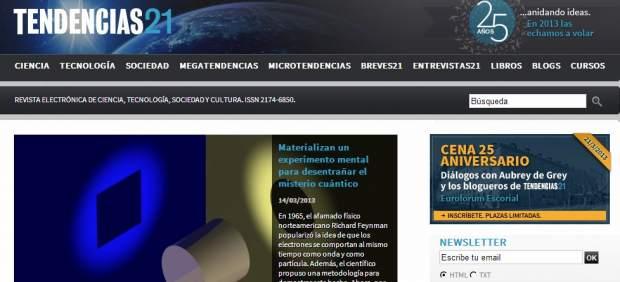 La revista 'Tendencias21' celebra sus 25 años de divulgación científica